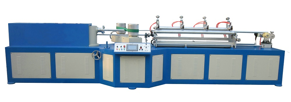Automatic Spiral Type Paper Tube Machine with Multi Blades in line JY-MC100